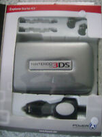 Official Nintendo 3ds Starter Kit Excursion Starter Kit Power A Silver Case