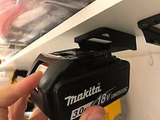5x Black MAKITA 18v BATTERY MOUNTS great for Shelves Racks Case Van Mikita Clip