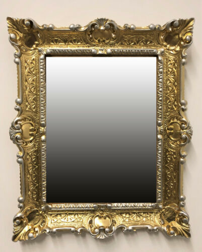 Miroir mural or argent dualcolor repro 56x46 Antique Baroque repro miroir 12 *