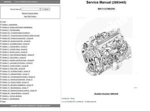Details about Cummins Signature ISX 11 9 2883445 CM2250 Engine Service  Repair Manual LATEST CD