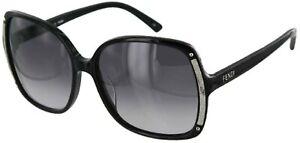 FENDI-Women-039-s-Designer-Black-Gradient-Lens-Sunglasses