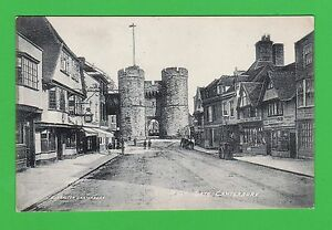 Vintage-postcard-West-Gate-Canterbury-Kent