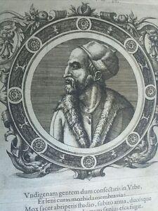 1574-Icones-Veterum-Ritratto-Iovius-Paolo-Giovio-Medico-Como-Firenze