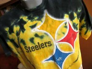 Pittsburgh Steelers Men s Medium Big Logo Tie Dye Retro T-Shirt  68d14a071