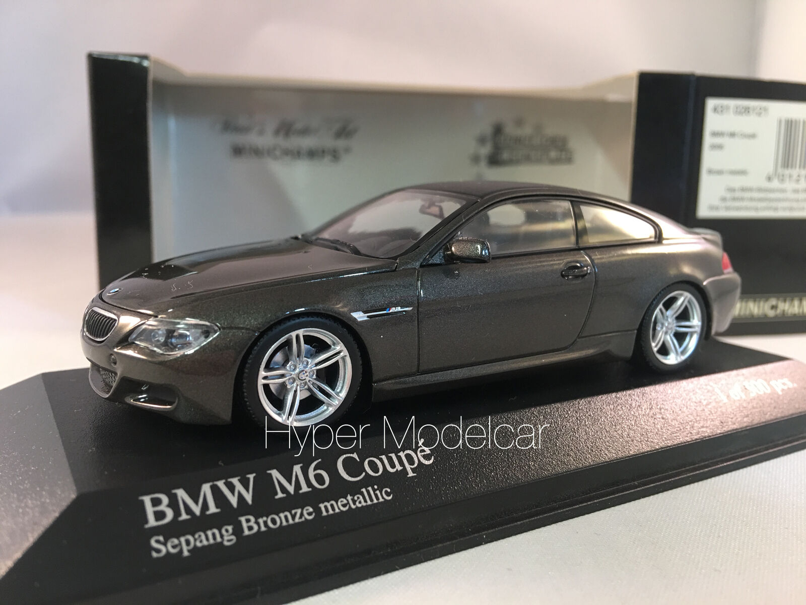 MINICHAMPS 1 43 BMW M6 COUPÈ 2006 marron METALLIC ART. 431026121