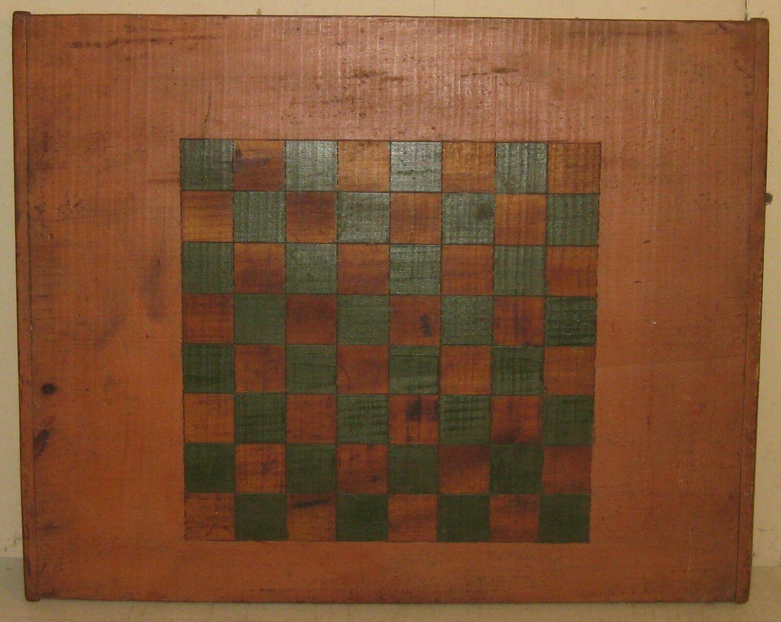 Antiguo arte popular primitivo Americano Pintado salmón Tablero De Juego-Bread Board