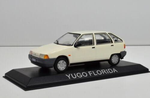 Yugo florida escala 1:43 blanco de los atlas-Cast
