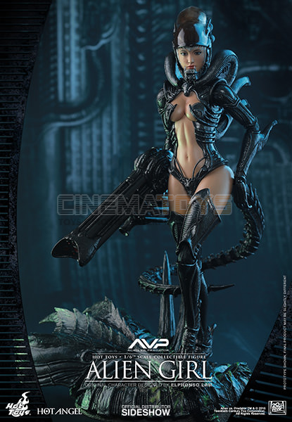 Alien Girl Sexy Sixth Scale Action Figure Hot Toys HAS 02 Angel Sideshow 16