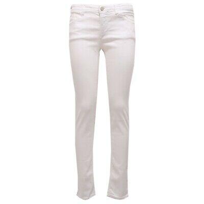 3949z Pantalone Donna Armani Jeans J28 Skinny Fit White Jeans Woman
