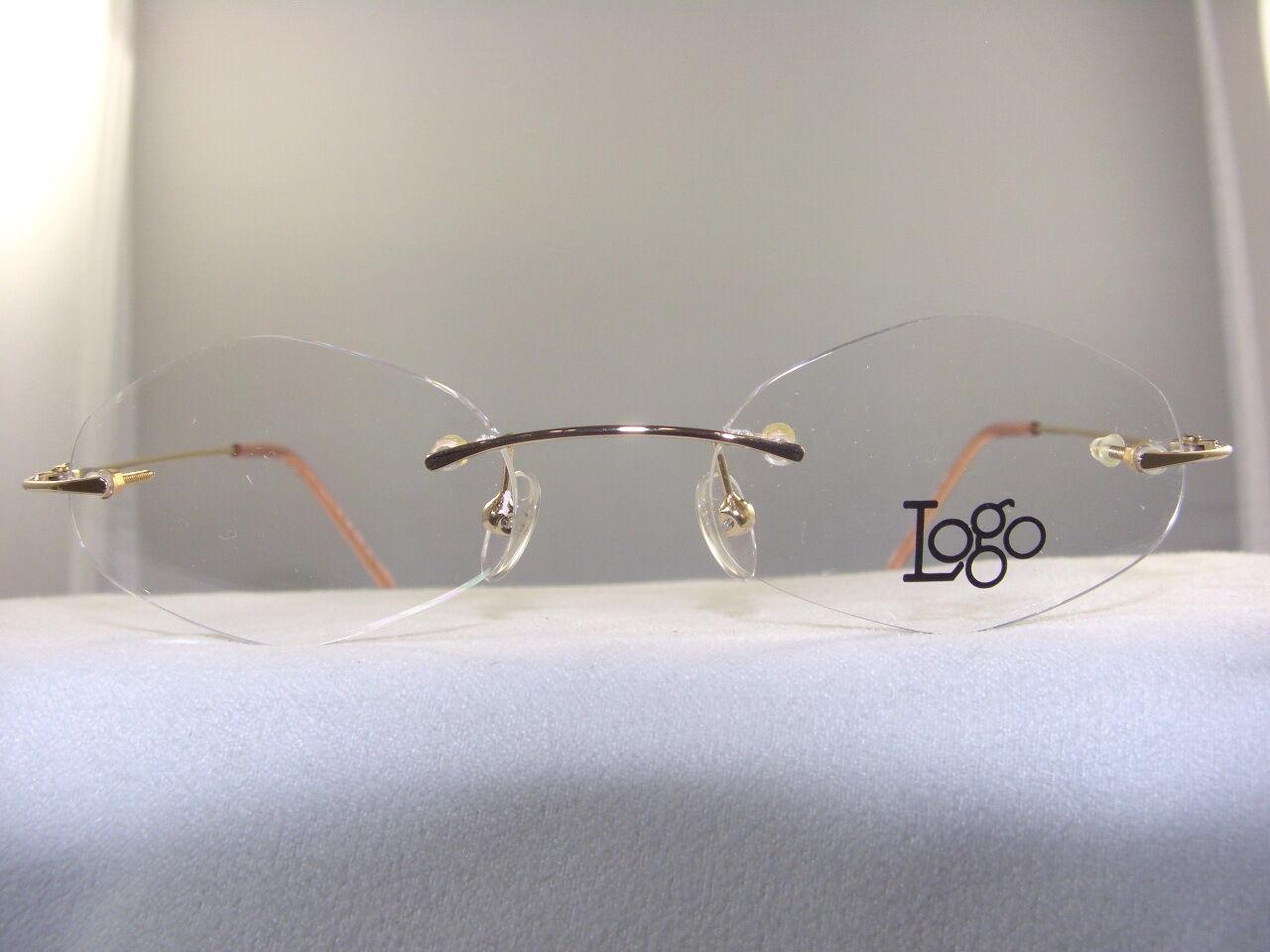 Eyeglass Frame Pieces : WOMENS 3 PIECE RIMLESS EYEGLASS FRAME IN GOLD #6020