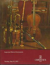 CHRISTIES MUSIC INSTRUMENT Violin Bow Woodwind Guarneri Bergonzi Ruggieri Cat 85