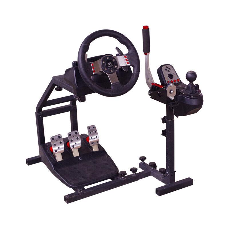 Racing Steering Wheel Stand for PC USB Handbrake Logitech G25 G27 G29 G920 AG102