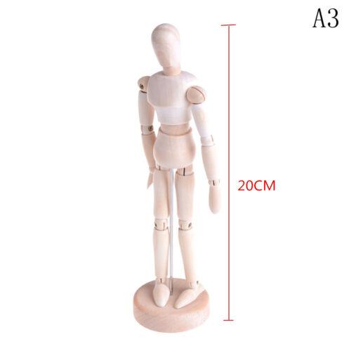 Wooden Human Mannequin Manikin Sketch Model Art Unisex Model IUUK RU