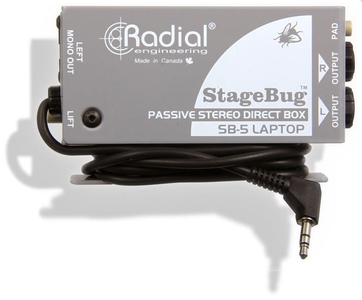 Radial SB-5 Laptop StageBug stereo DI for computers , BEST OFFER R004