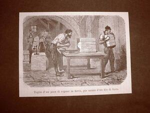 Moda-e-costume-in-Italia-nel-1876-Taglio-di-un-pane-di-sapone-in-barre-con-filo