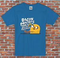 Makin' Bacon Pancakes Adventure Time Jake Inspired T Shirt S M L XL 2XL
