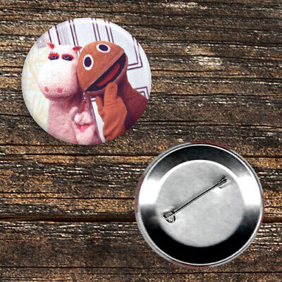 Rainbow George and Zippy Selfie 1970s//1980s TV 59mm Button Badge.