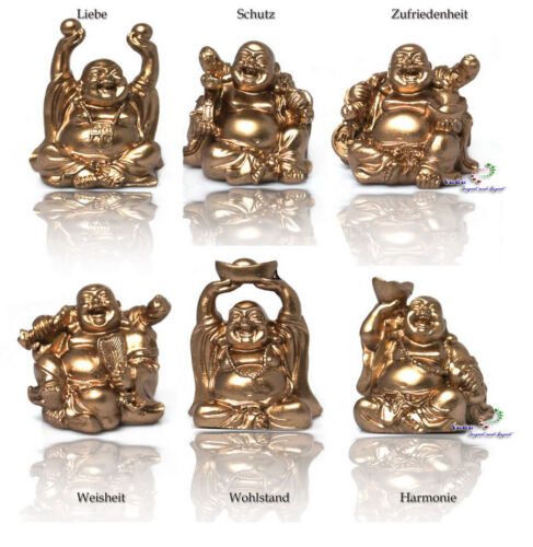 Fengshui Glücksbringer 2,08€//Stk 6 St.verschiedene Buddha Figur H:6,50 cm