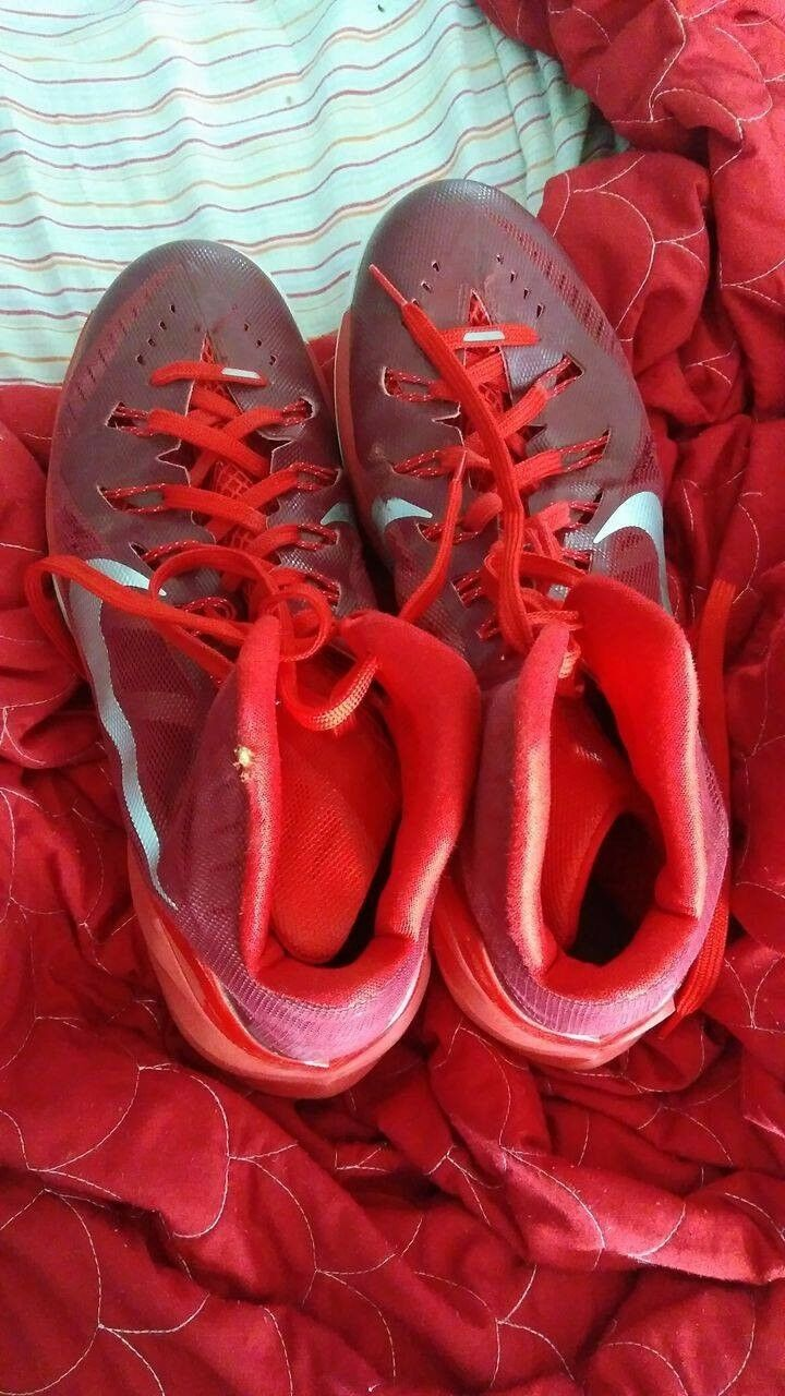 Mens red nike shoes basketball shoes size 12