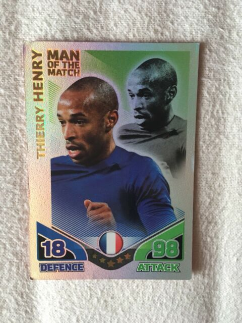 Match Attax World Cup 2010 Man Of The Match Thierry Henry