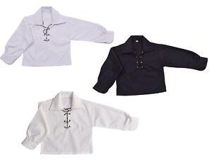 Les-enfants-de-Luxe-Ghillie-Chemise-Enfants-Garcons-Chemise-Ghillie-blanc-creme-ou-noir