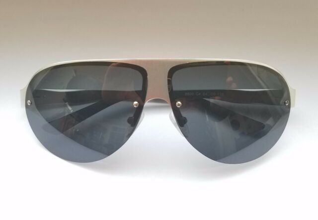 807ac92787 LUOMON 8600 C4 Men s Polarized Shield Sunglasses Al-Mg Aloy Silver Frame