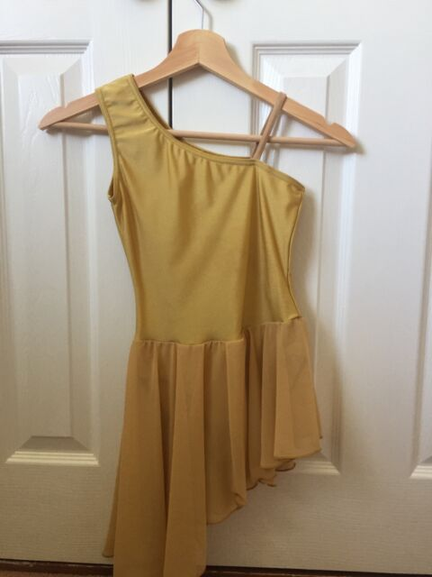 Gold girls lyrical costume - Size 2 - Danse Dezines