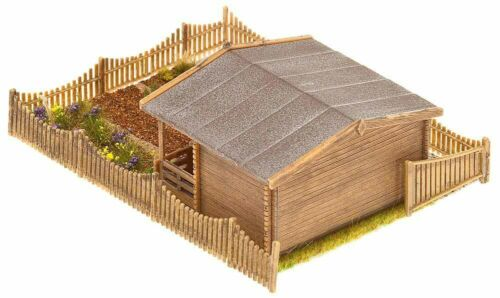 Faller 180493 Schrebergarten mit großem Gartenhäuschen NEU 105 x 74 x 36 mm+