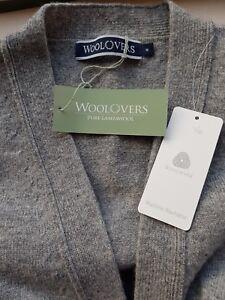 Neck Long Woolovers Medium Cardigan Lambswool Sleeve And Grey V 100 x8Ar81qI