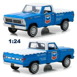 GREENLIGHT-85013-1967-FORD-F-100-PICKUP-TRUCK-W-BED-COVER-CHEVRON-DIECAST-1-24