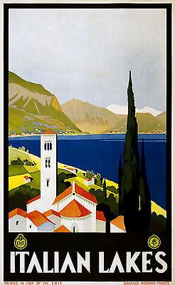 "Italy italian Genova  Vintage Illustrated Travel Poster art Print painting 36/"""