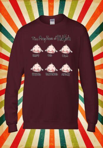 Many Faces Of Blobfish Funny Cool Men Women Unisex Top Hoodie Sweatshirt 148E