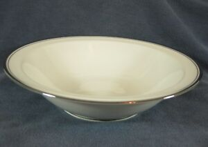 Noritake-COUNTESS-7223-Round-Vegetable-Serving-Bowl-10-034-Cream-with-Platinum-Trim