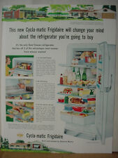 1953 Frigidaire Cycla-Matic IS-106 Refrigerator FullColor Vintage Print Ad 10556