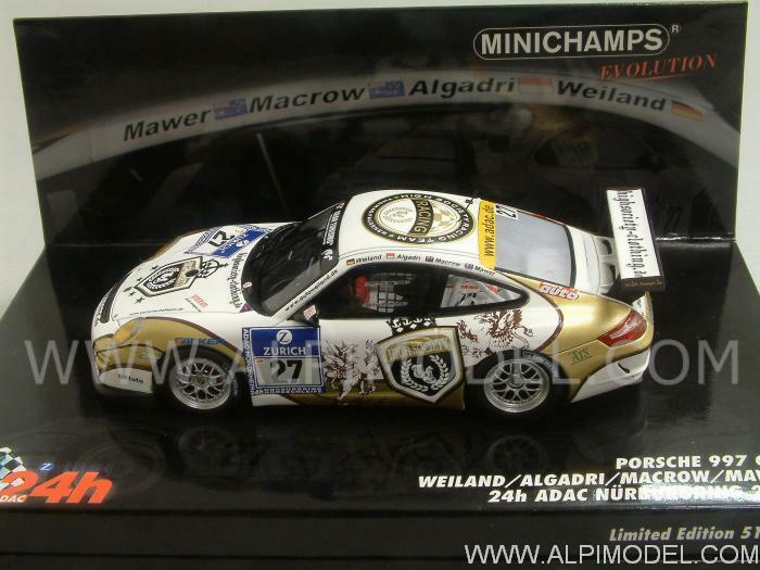 Porsche 997 Cup Nurburgring 2010 Weiland - Algadri 1 43 MINICHAMPS 437106727