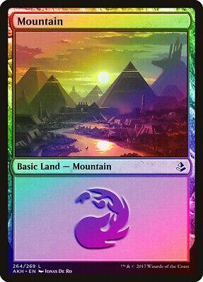 Mits Mountain (264) Foil Amonkhet Pld-sp Basic Land Magic The Gathering Card Abugames