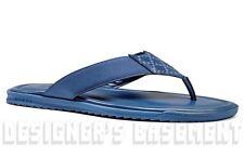 GUCCI mens 7G* blue DIAMANTE Leather FLIP-FLOPS Thong sandals shoes NIB Authentc