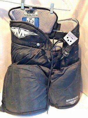 MISSION Hockey Pants Shorts Padded Gaurd Size Junior Large 26