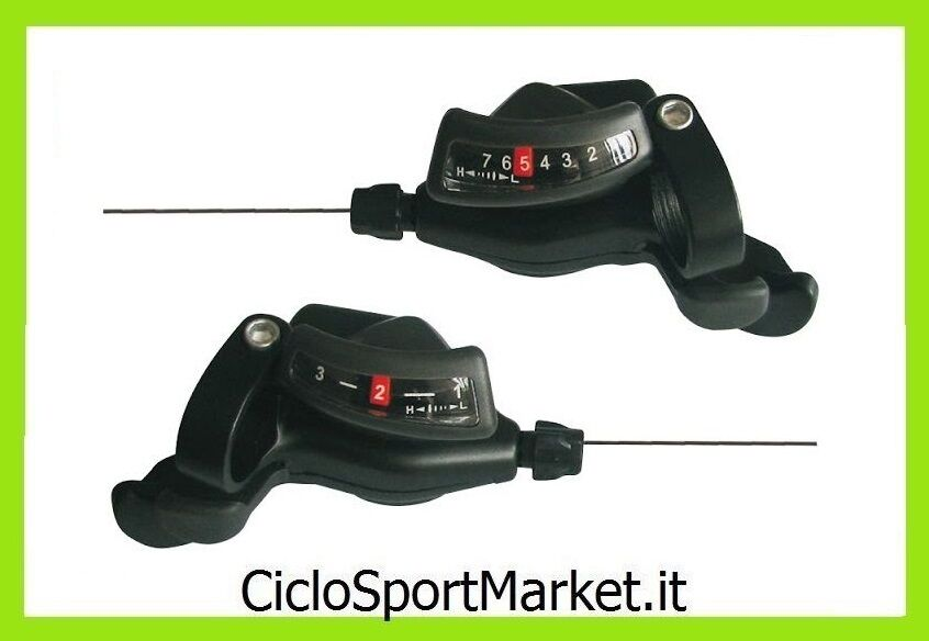 Control SHIFTER City Bike MTB compatible SHIMANO  7 x 3 Speeds COMPLETE WIRES  cheap sale