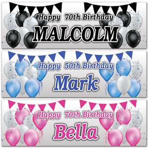 2-Striscione-di-Compleanno-Personalizzata-Palloncino-Stella-Bunting-Bambini-Adulti-Party-POSTER