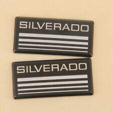 2xfor Chevy Silveradoblack Cab Emblems 3d Badge Side Roof Pillar Decal Plate