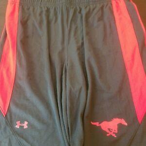 SMU-Mustangs-Under-Armour-Basketball-Short-Men-039-s-Large-Black