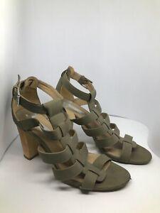 Women-039-s-Dorothy-Perkins-Green-ankle-strap-heels-UK-6-EU-39