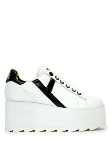 Righe Nero Strype Sneaker Giovanile Yru Da Rise A Lala Scarpe Donna Bianco Up 8Iwqa