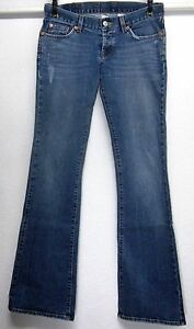 LUCKY-BRAND-LIL-MAGGIE-WOMENS-2-26-W30-L34-LOW-BOOT-CUT-BLUE-STRETCH-JEANS-USA