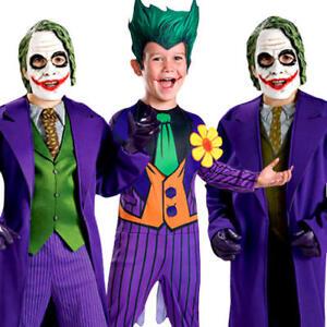 Image is loading Batman-Joker-Boys-Halloween-Fancy-Dress-Kids-Childrens-  sc 1 st  eBay & Batman Joker Boys Halloween Fancy Dress Kids Childrens Childs ...
