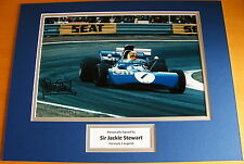 SIR JACKIE STEWART SIGNED AUTOGRAPH 16x12 PHOTO MOUNT DISPLAY FORMULA 1 F1 & COA