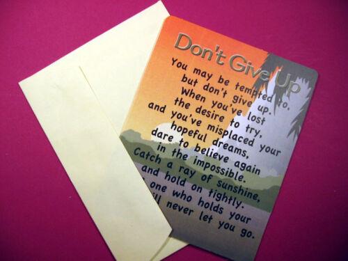 "Sku# 758 /""Don/'t Give Up/"" Poem Greeting Card-Blank Inside"