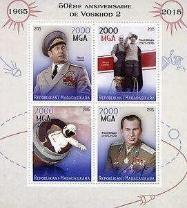 Madagascar-2015-MNH-Voskhod-2-Space-Mission-50th-4v-M-S-Belyayev-Leonov-Stamps