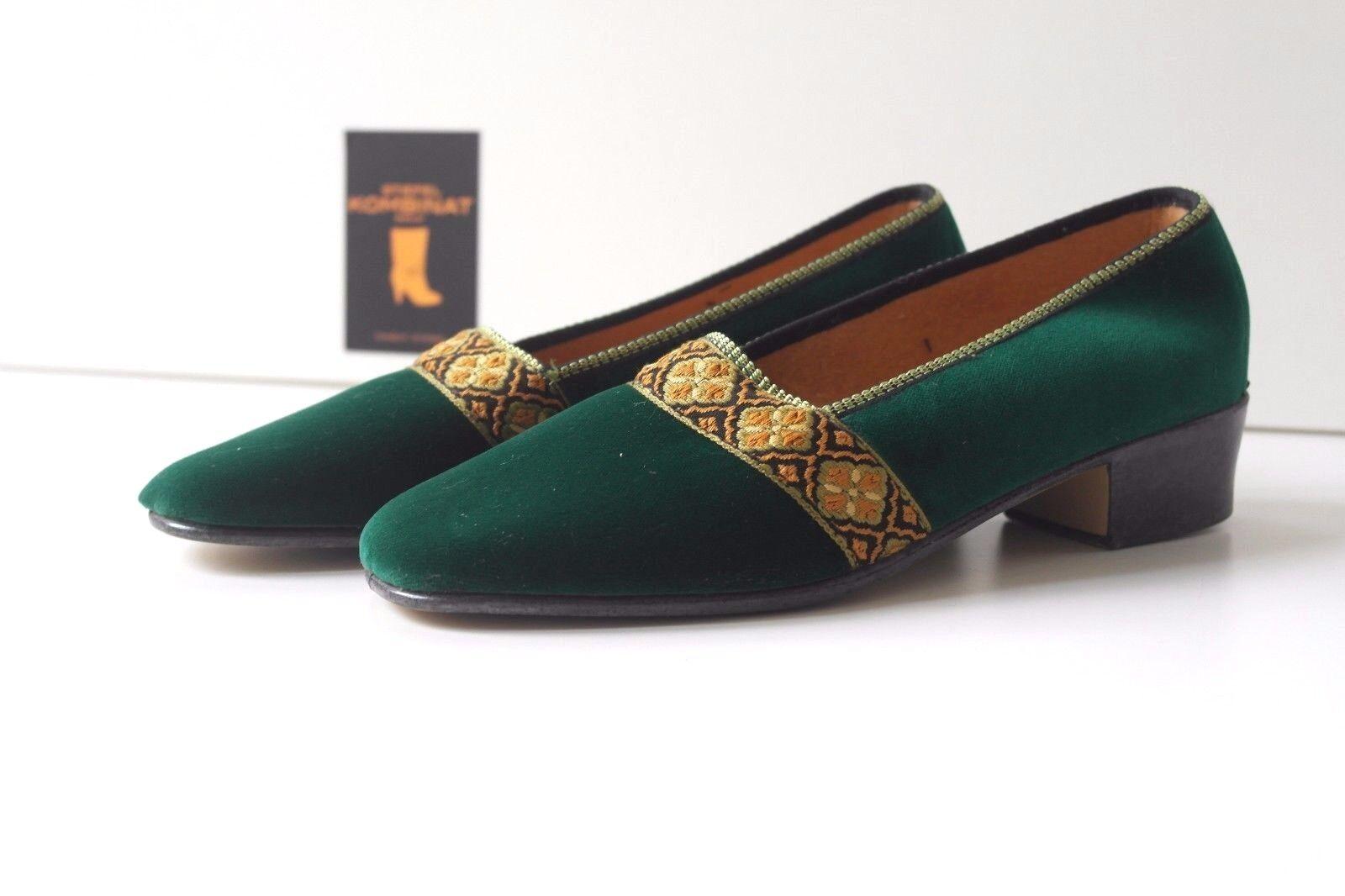 Moda barata y hermosa Romika Colibri señora zapatos zapatillas de casa True vintage pumps terciopelo 70er nos